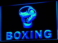 Wholesale i579 b Boxing Gloves Club Fight Bar Pub LED Neon Light Sign Dropshipping