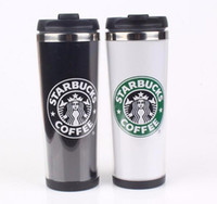 Wholesale New Style Starbucks Double Wall Stainless Steel Mug Flexible Cups Coffee Cup Mug Tea Travelling Mugs Tea Cups Wine Cups