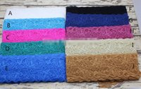 baby garter - Hair band material Elastic quot Lace Stretch Elastic cm Wide Trim Baby Headband Lace Elastic Garter Lingerie Hair accessories yard l