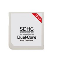 Wholesale HOT New Edition Genuine White SDHC Dual Core Adapter Game Flash Card For DS XL DSi DSL NDS Memory Card Reader DHL