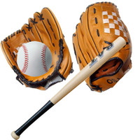 Wholesale New Performance Gloves Ball Combo Gift Pc Inch Wooden Baseball Bat Pc quot Youth Baseball Glove Pc Training Ball E431J