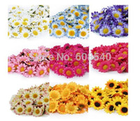 Wholesale 100Pcs Artificial Gerbera Daisy Silk Flowers Heads For DIY Wedding Party AE01488