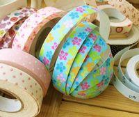 Wholesale Lots 600 papeterie fine Washi Masking Tape bricolage Tissu Grille Autocollants Papeterie Mignon coloré de style japonais Post-it
