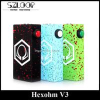 Acheter Hexohm v3-<b>Hexohm V3</b> Box réglementée Mod 180Watt Max sortie Mod mécanique Clone avec affichage de tension Splatter Double 18650 Batterie Conception D