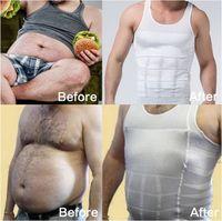 Cheap Hot sale men body shaper slim fit vest Men beer Blazers slimming gilet corset for men weste shirt