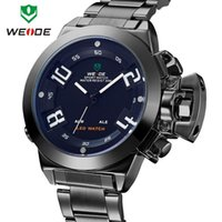 Wholesale Newest Luxury Brand Weide Watches Quartz Analog Military LED Japan Movement ATM Date Day Alarm Stainless Steel Watch