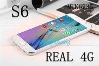 Wholesale 1 S6 real G LTE Bit Quad Core MTK6735 smartphone s6 edge MP GB GB mobile phone G CellPhone s6 mobiles phones