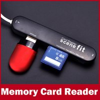 Wholesale 2014 New A All In One Cardreader Ports USB Multi Memory Card Reader For SD SDHC MMC Micro SD TF MS MS PRO M2 Micro MS