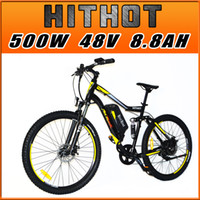 bicycle front forks suspension - Addmotor HITHOT Electric Bike H1 Sport Fork Suspension Spring Shock Absorber Yellow Bike V W quot Speed Mountain Electric Bicycle