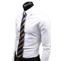 Wholesale High Quality Colorful Men Shirts Slim Fit Stylish Men Clothing Large Size Men Casual Dress Shirts