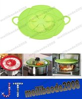 Wholesale NEW quot Multi functional Silicone Cover Lid Spill Stopper for Pot and Pan Kitchen Accessories Cooking Tools Cookware MYY14295