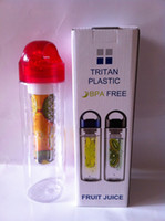 Wholesale 2015 Hot New ml Fruit Infusion BPA Free Detox Drink Juice Bottle Plastic cups readily cup lemon fruit cup