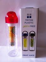 Wholesale 2015 Hot New ml Fruit Infusion BPA Free Detox Drink Juice Bottle Plastic cups readily cup lemon fruit cup