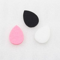 able oil - Colorful Scent able Felt Pads for shape teardrop Essential Oil Diffusing Perfume Locket Pendant