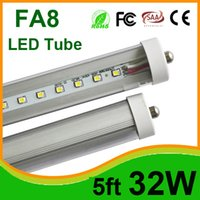 T8 32W SMD 2835 Led Single Pin FA8 32W 1.5M 5ft Led Fluorescent Tubes Lights AC110-277V SMD 2835 Warm Natural Cool White Shatterproof Tube with CUL FCC UL
