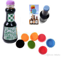 Wholesale Creative silicone beer savers bottle caps mix colors Wine Beer juice Caps Savers bottle tops covers via epacket