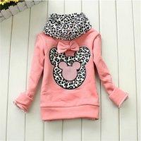baby cotton undershirts - Autumn Winter Children Base Shirt Thicken Fleece Choker Cartoon Leopard Girls Sweatshirt Top T Shirt Baby Kids Undershirt QS559