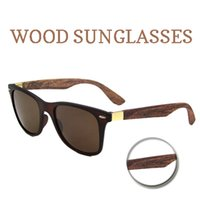 Wholesale 10pcs Bamboo Sunglasses Men Wood sunglasses Oculos De Sol Masculino Wooden Sunglasses Women Brand Designer Gafas De Sol