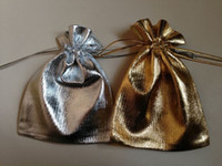 Wholesale Gold Silver x7cm Drawstring Organza Pouch Bag Jewelry Bag Christmas Wedding Gift Bag