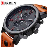 Wholesale Relogio Masculino Fashion Montre Homme Reloj Hombre Quartz Watch Curren Male Watch Leather Wristwatches Men Curren Watches