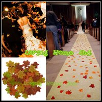 assorted leaf shape - 2000Pcs Simulation Assorted Artificial Fall Maple Silk Autumn Leaves Table Scatters For Fall Weddings Autumn Parties
