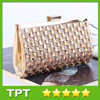 rhinestone purses - Luxury Evening Clutch Purses with Rhinestones Women Evening Bags Clutch Bags with Shoulder Chain for Party Colors