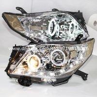 toyota headlights - For Toyota Prado FJ150 LED Angel Eyes Headlight TO year Chrome House