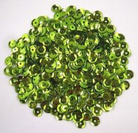 10g / lot (aprox 1000pcs) 6mm verde claro Flake de lentejuelas Decoración Confetti 043002002 (27)