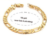 Wholesale OPK JEWELLERY wedding man K GOLD GP BRACELET chain bracelets for men never fade anti allergy free