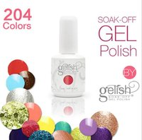 Wholesale 204 colors Gelish Nail Polish Soak Off UV LED Gel UV Gel Nail Art Tips Nails DIY Sets Gel Nail Polish