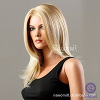 american girl hairstyle - NAWOMI European and American popular hairstyle sexy girls carve repair face long straight hair blond curls ZL970 T613
