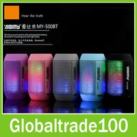1.5 LCD 1280x720 AIBIMY MY500BT Wireless Bluetooth Speaker Portable Audio Player Music Stage Outdoor LED Light Speakers for iPhone iPad Samsung Cell Phone