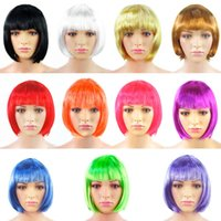 bulk hair - Hot Sales Women Ladies Party Short Straight wigs Bulks Synthetic Hair Colors FX60