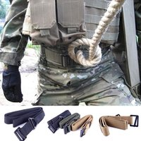 Wholesale Fashion Accessories Militaria Survival Tactical Belts Waist Strap Fire Rescue Military For Hunting Camping Colors DDE