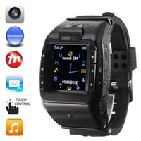 GSM850 mobile phone touch screen - Unlocked inch N388 Watch Phone Quadband Touch Screen Mobile Bluetooth M Hidden Camera Voice Video Player E book Wrist Watch Phone