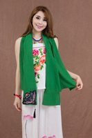 Wholesale Chinese Ethnic Style Slub Cotton Embroidered Scarf Women Stole All match Multifunctional Pashmina Plus Size Shawl from india
