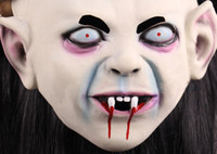 Wholesale ghost is coming for halloween Full horrible head cover Latex Creepy Scary mask DHL for free