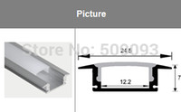 anodized aluminum bar - Recessed Anodized LED aluminum profile Aluminum led bar for led strips M Length can be customized