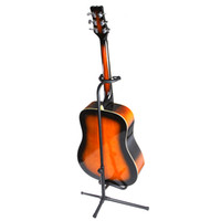 holder acoustic stand - Guitar Stand Tubular Acoustic Guitar Stand Folding Tripod Holder Padded Storage Rack I182