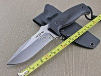 Wholesale 2015 Arrival Fox M3 Knife Tactical Fixed Blade Knives Black G10 Handle Hunting Knives Camping Survival Hand Tools