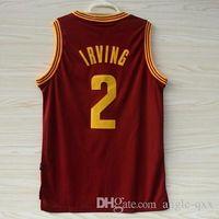 cavalier - Hot Red Kyrie Irving Jerseys Basketball Cavaliers Home Jersey Shirts Stitched Logo Sport Uniform Vest Hot Sale