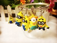 Wholesale Models Despicable Me Despicable Me d Stereoscopic Little Yellow Man Keychain Pendant Gift