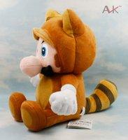 mario bros toy - 20cm color Tanooki Kitsun inch Bros Fox Luigi supper mario brothers fox plush toy doll