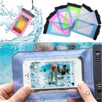 Cheap 12pcs New Hot Sell Transparent Waterproof Underwater Pouch Bag Dry Case Cover For Mobile Phones 7 Colors Cheap Free Ship