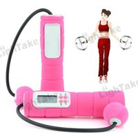 Wholesale Hot sale Electronic Digital Cordless Jumping Rope Skipping Rope Pink
