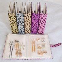 book box - Earrings Leather Book Jewelry Display Organizer Ear Stud Ring Storage Book Box