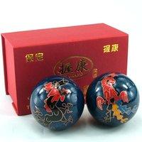 Wholesale Baoding iron ball fitness ball handball elderly health care ball elderly entertainment gift New Year s gift turn the ball