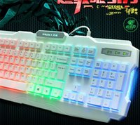 backlit board - USB Wired colorized Backlight Professional Gaming Keyboard Key Board PC Computer Peripherals colours Backlight Backlit keyboard
