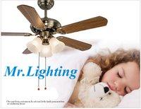 Mr.Lighting envío libre LED garantía europea de estilo retro lámpara de ventiladores de techo: 3 años FG-001