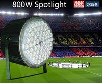 Wholesale 800w waterproof led spotlight flood light football stadium lighting High Mast Lamp high bay light years warranty CREE chip Meanwell